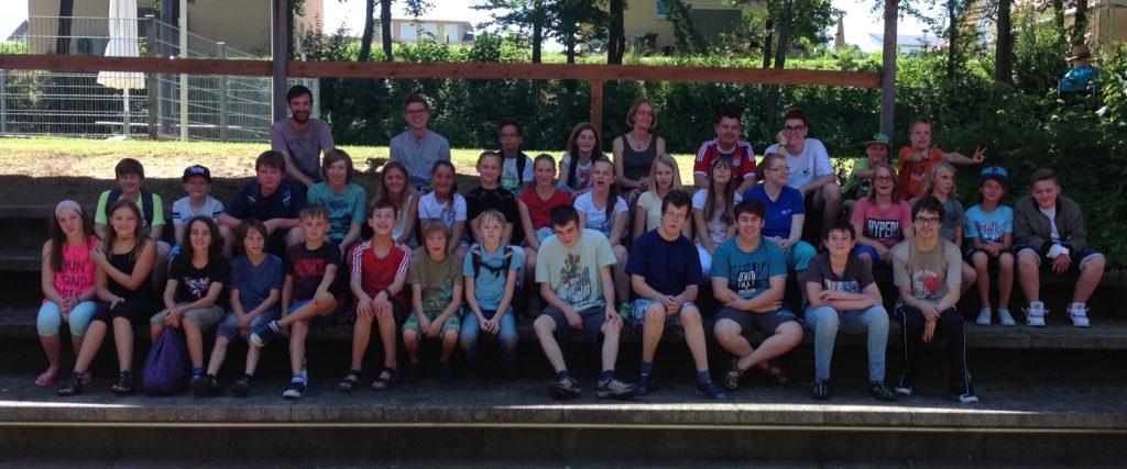 2016 Lebenshilfe u Montessori Gruppenfoto