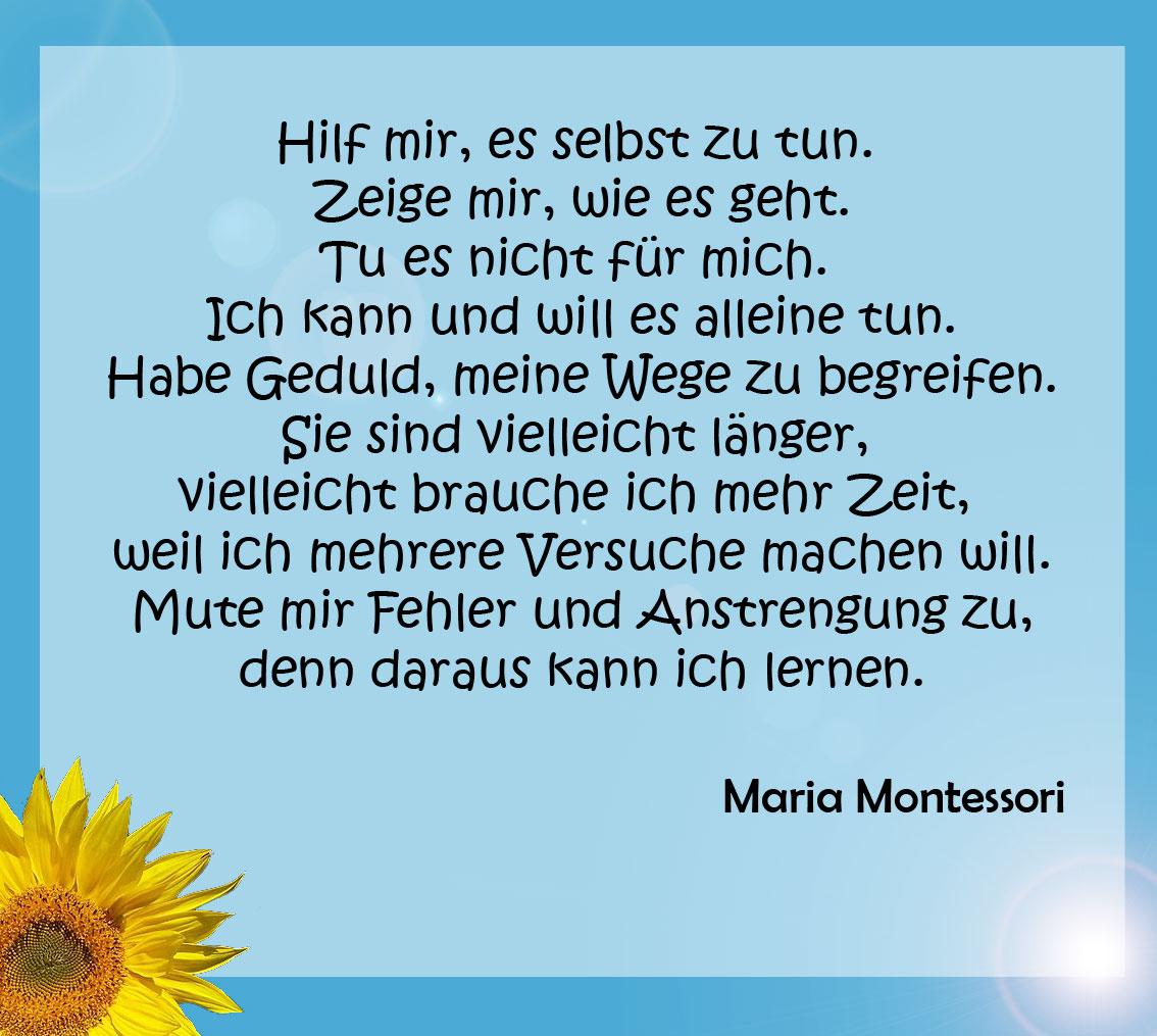 montessori sprüche Beste Zitate Sammlung in der Kategorie: maria montessori charter  montessori sprüche